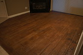 Stamped Concrete Wood Grained Floor