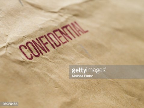 CONFIDENTIAL stamped on an envelope or package