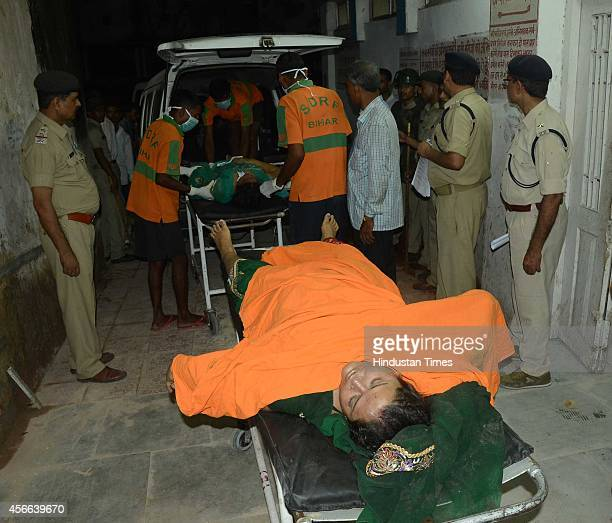 Stampede victims at hospital occurred during the Dussehra celebration at Gandhi Maidan on October 3 2014 in Patna India At least 33 people have been...