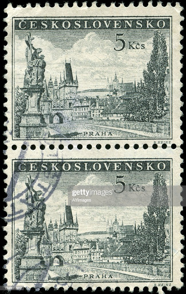 Stamps from Czechoslovakia : Stock Photo
