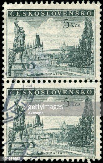 Briefmarken aus der Tschechoslowakei : Stock-Foto
