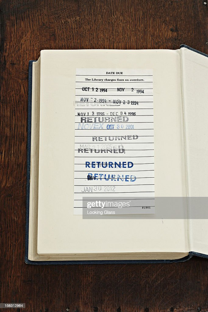 Stamps on library book
