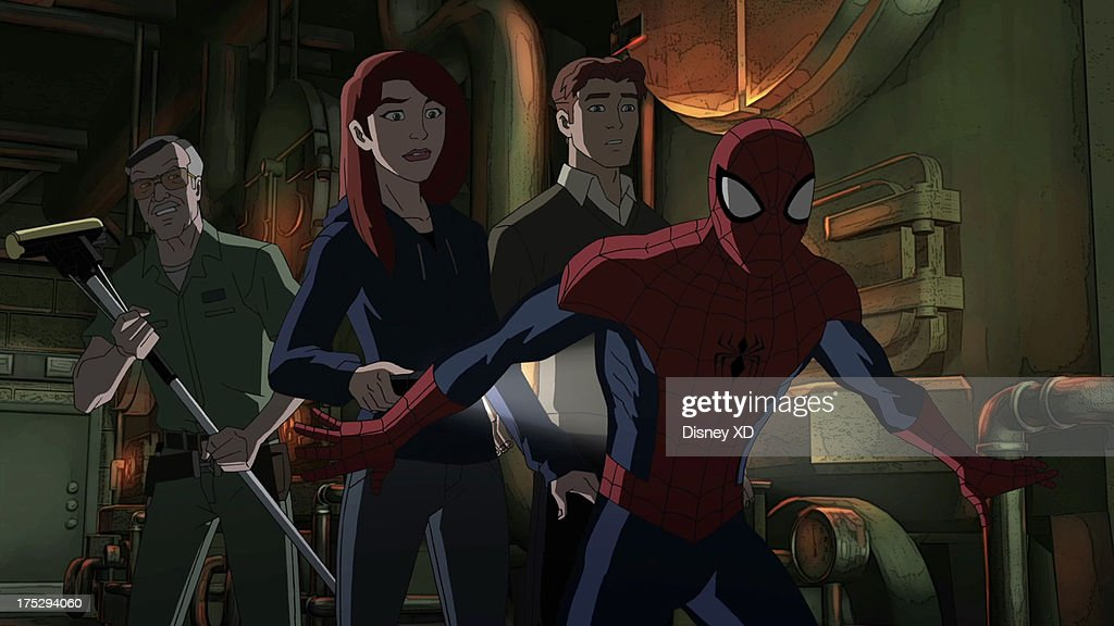 MAN - 'Stan By Me' - Spider-Man, Mary Jane, Harry and Stan the Janitor go on a hunt for The Lizard in the tunnels beneath Midtown High. This episode of 'Ultimate Spider-Man' premieres Sunday, August 4 (11:30 AM - 12:00 NOON ET/PT) on Marvel Universe on Disney XD. (Image by Disney XD via Getty Images) STAN, MARY JANE, HARRY, SPIDER-MAN