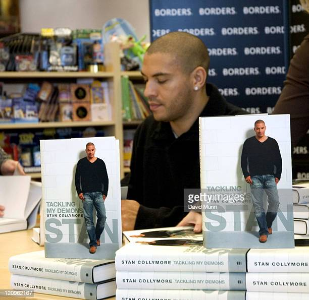 Stan Collymore during Stan Collymore Signing his book 'Tackling My Demons' at Borders Bookstore Liverpool in Liverpool Great Britain