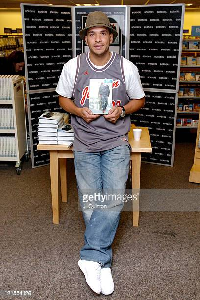 Stan Collymore during Stan Collymore Signs Copies of 'Tackling My Demons' at Borders Book Shop in London Great Britain