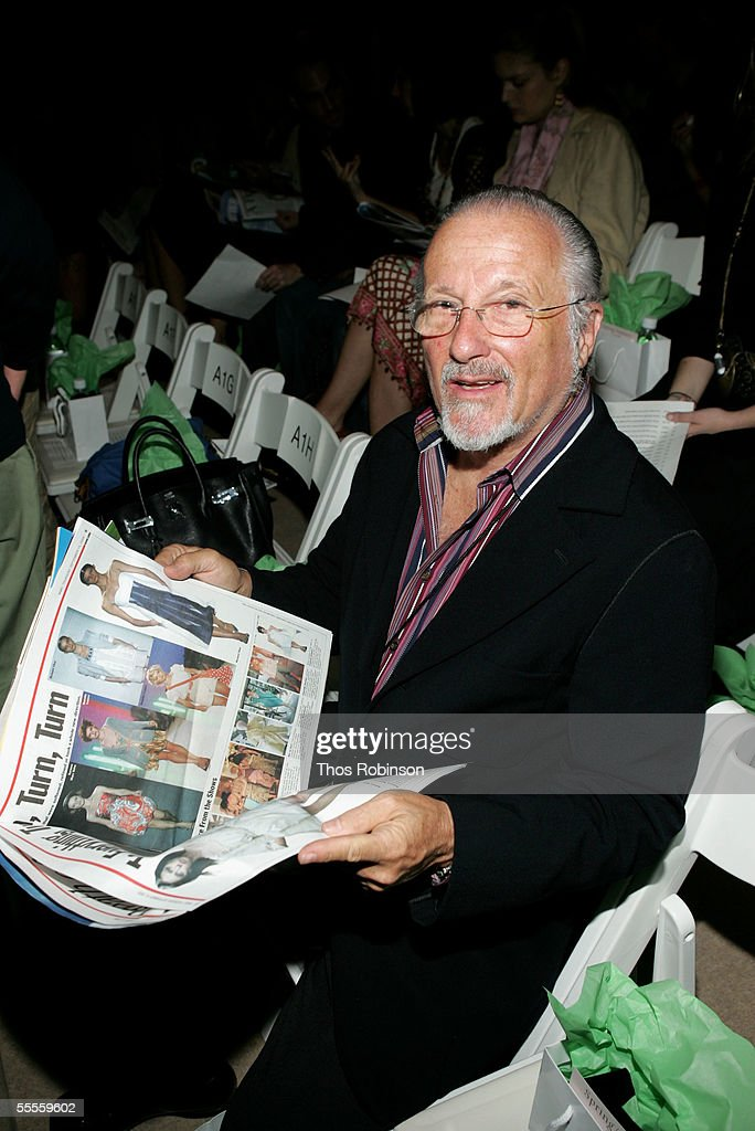 Stan Herman attends the Douglas Hannant Spring 2006 fashion show during Olympus Fashion Week at the Bryant Park September 15, 2005 in New York City.