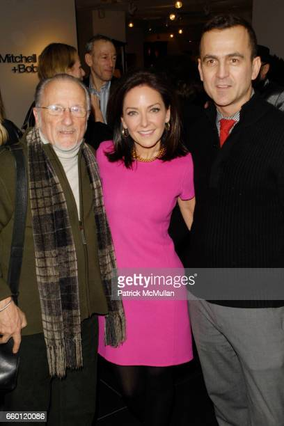 Stan Herman Margaret Russell and Steven Kolb attend ELLE DECOR and BLOOMINGDALE'S Celebrate Reopening of Furniture Department With Auction...