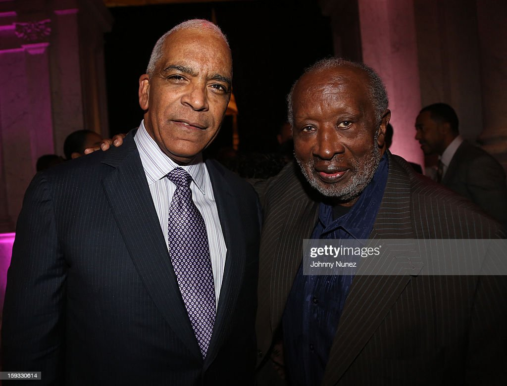 Stan Lathan and <a gi-track='captionPersonalityLinkClicked' href=/galleries/search?phrase=Clarence+Avant&family=editorial&specificpeople=706032 ng-click='$event.stopPropagation()'>Clarence Avant</a> attend the 2013 Debra Lee Pre BET Honors Cocktails & Dinner at The Library of Congress on January 11, 2013 in Washington, DC.