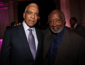 Stan Lathan and Clarence Avant attend the 2013 Debra Lee Pre BET Honors Cocktails Dinner at The Library of Congress on January 11 2013 in Washington...