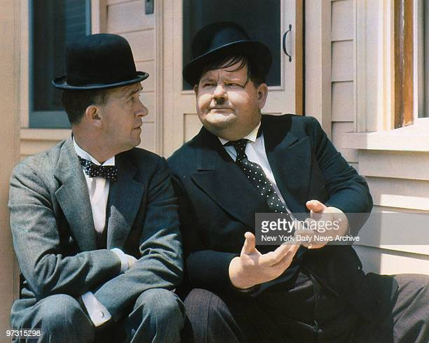 Stan Laurel and Oliver Hardy This is a copy of a carbro print on display at the National Portrait Gallery of the Smithsonian Institution Copy slides...