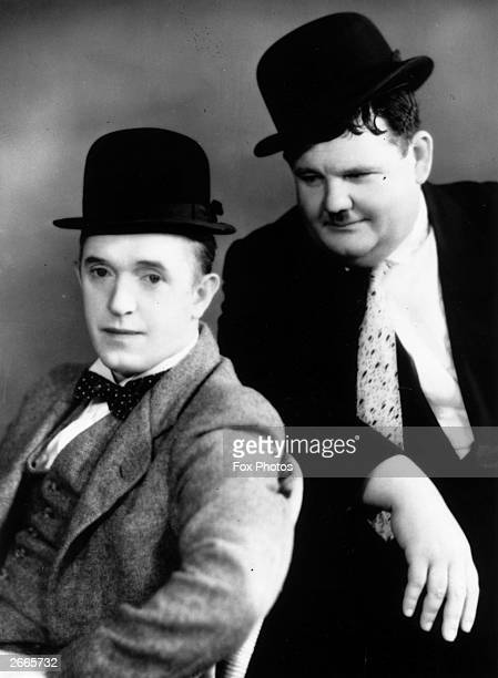 Stan Laurel born Arthur Stanley Jefferson and Oliver Hardy famous film comedians
