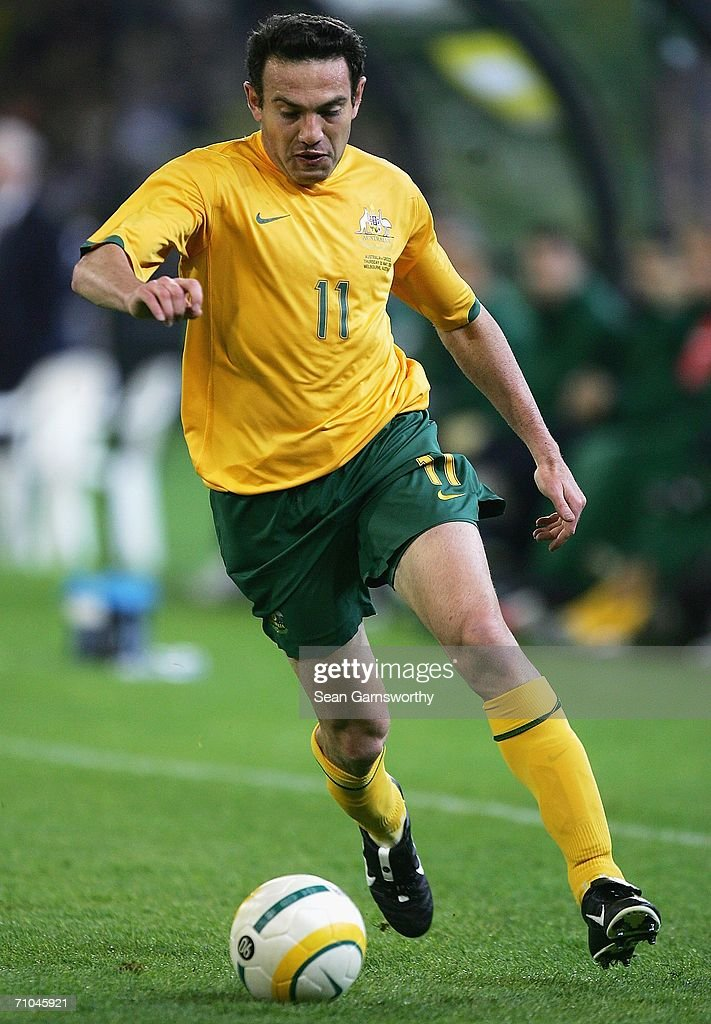Stan Lazaridis for Australia in action during the Powerade Cup international friendly match between Australia and Greece at the Melbourne Cricket Ground May 25, 2006 in Melbourne, Australia.