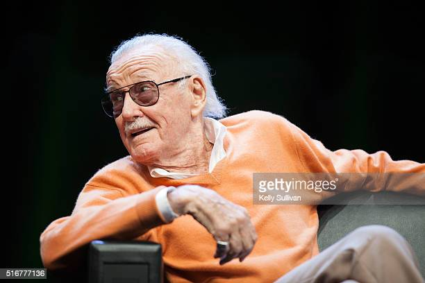 Stan Lee answers questions from the crowd during the closing panel of the Silicon Valley Comic Con on March 20 2016 in San Jose California