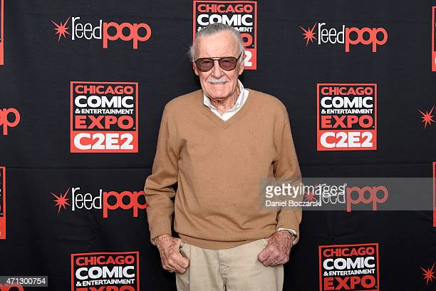 Stan Lee attends C2E2 Chicago Comics and Entertainment Expo at McCormick Place on April 26 2015 in Chicago Illinois