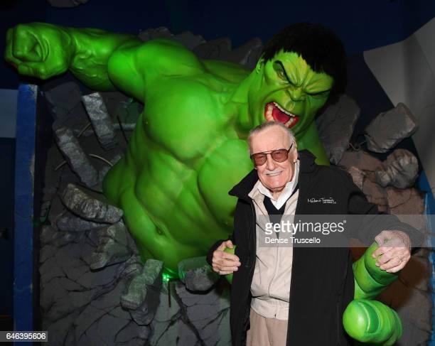 Stan Lee attends Madame Tussauds Las Vegas on February 28 2017 in Las Vegas Nevada