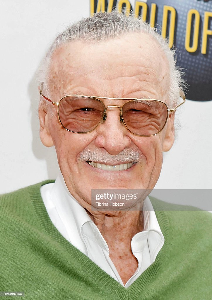<a gi-track='captionPersonalityLinkClicked' href=/galleries/search?phrase=Stan+Lee&family=editorial&specificpeople=206380 ng-click='$event.stopPropagation()'>Stan Lee</a> attends <a gi-track='captionPersonalityLinkClicked' href=/galleries/search?phrase=Stan+Lee&family=editorial&specificpeople=206380 ng-click='$event.stopPropagation()'>Stan Lee</a>'s 'Kids Universe' book label launch at Giggles 'N' Hugs on February 2, 2013 in Century City, California.