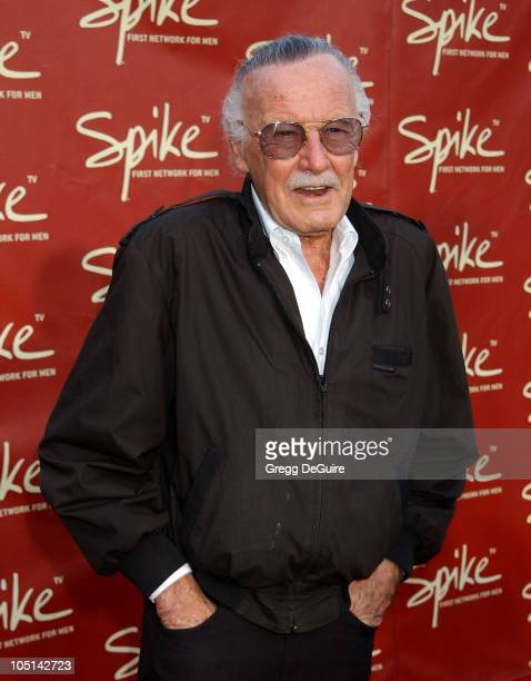 Stan Lee during Launch of Spike TV at the Playboy Mansion at Playboy Mansion in Los Angeles California United States