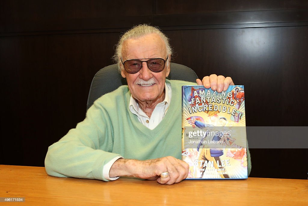 "Stan Lee Signs Copies Of His New Book ""Amazing Fantastic Incredible: A Marvelous Memoir"""