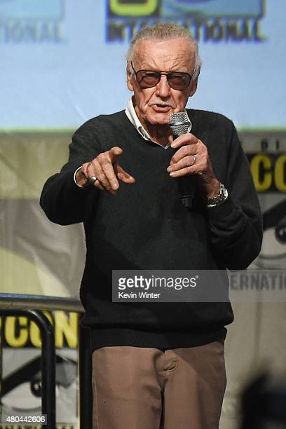 Stan Lee speaks onstage at the 20th Century FOX panel during ComicCon International 2015 at the San Diego Convention Center on July 11 2015 in San...