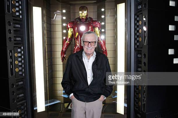 Stan Lee welcomes Marvel's Avengers STATION exhibition at Discovery Times Square on May 30 2014 in New York City