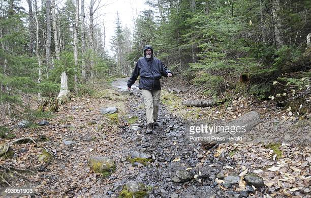 Stan Moody walks along the Appalachian Trail in Monson Tuesday May 8 2012