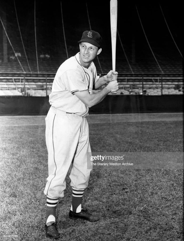 Stan Musial, of the St. Louis Cardinals, poses for a portrait, circa 1950.