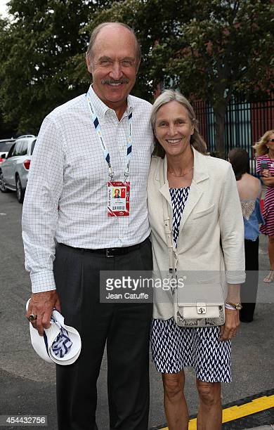 Stan Smith and his wife Marjory Gengler Smith attend Day 6 of the 2014 US Open at USTA Billie Jean King National Tennis Center on August 30 2014 in...