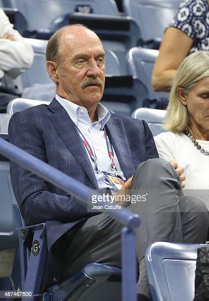 Stan Smith attends day ten of the 2015 US Open at USTA Billie Jean King National Tennis Center on September 9 2015 in the Flushing neighborhood of...