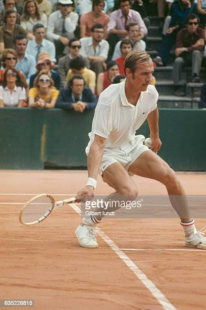 Stan Smith from USA competes at Roland Garros in the French Open