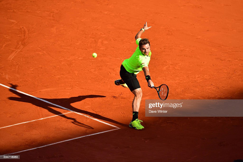 Stan Wawrinka during the Men's Singles third round on day six of the French Open 2016 at Roland Garros on May 27, 2016 in Paris, France.