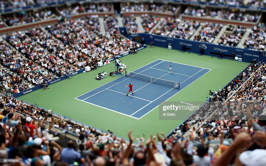 Stan Wawrinka of Switzerland reacts against Novak Djokovic of Serbia during their Men's Singles Final Match on Day Fourteen of the 2016 US Open at the USTA Billie Jean King National Tennis Center on September 11, 2016 in the Flushing neighborhood of the Queens borough of New York City.