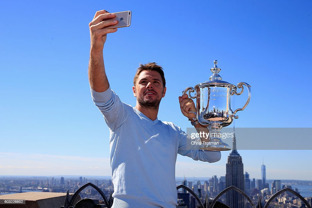 2016 US Open Champion Stan Wawrinka New York City Trophy Tour