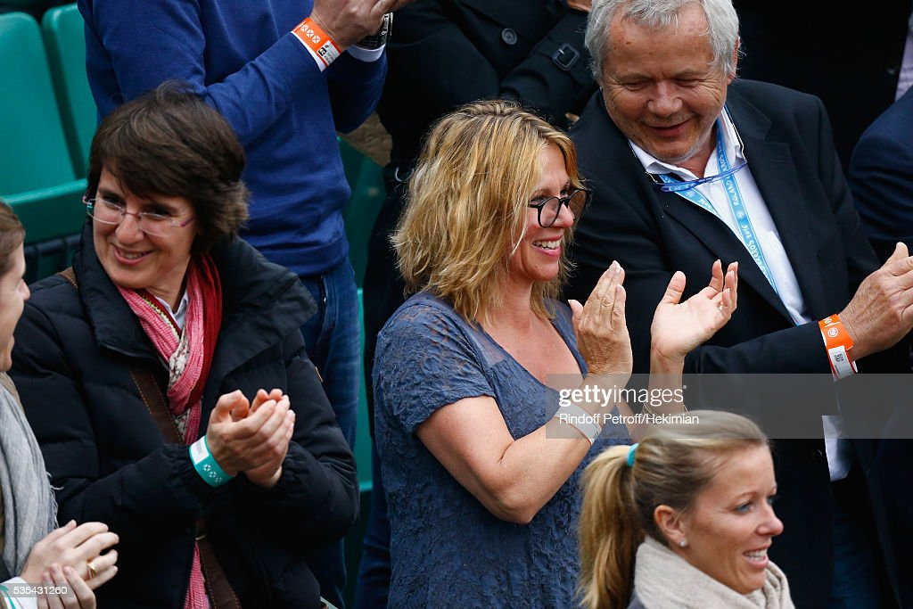 Stan Wawrinka parents' Wolfram Wawrinka and Isabelle Wawrinka attend the French Tennis Open Day 8 at Roland Garros on May 29, 2016 in Paris, France.