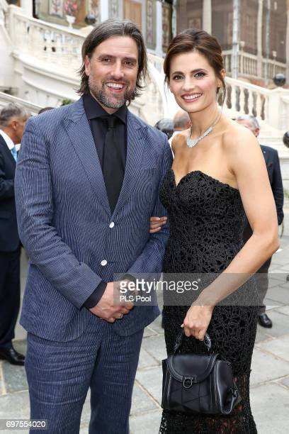 Stana Katic and boyfriend attend the cocktail party of the 57th Monte Carlo TV Festival at the Monaco Palace on June 18 2017 in MonteCarlo Monaco