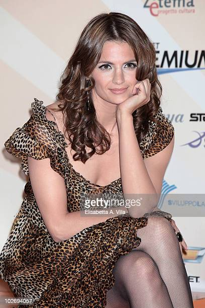 Stana Katic attends a photocall during the Rome Fiction Fest at Adriano Cinema on July 7 2010 in Rome Italy