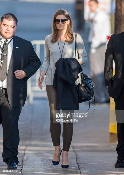 Stana Katic is seen at 'Jimmy Kimmel Live' on February 16 2015 in Los Angeles California