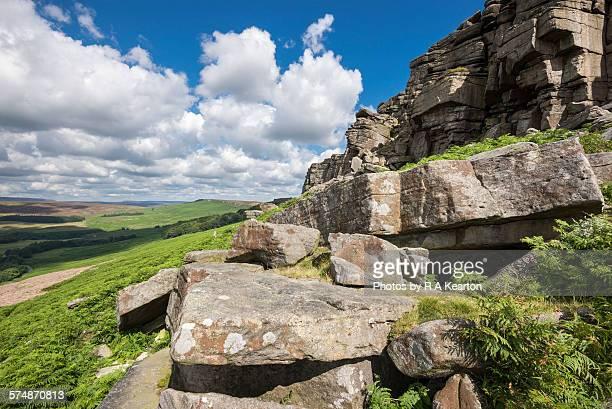 Stanage edge, peak district, Derbyshire