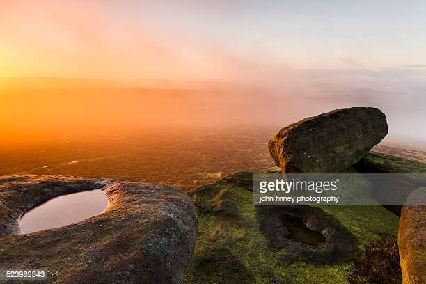 Stanage Edge sunrise, Peak District.