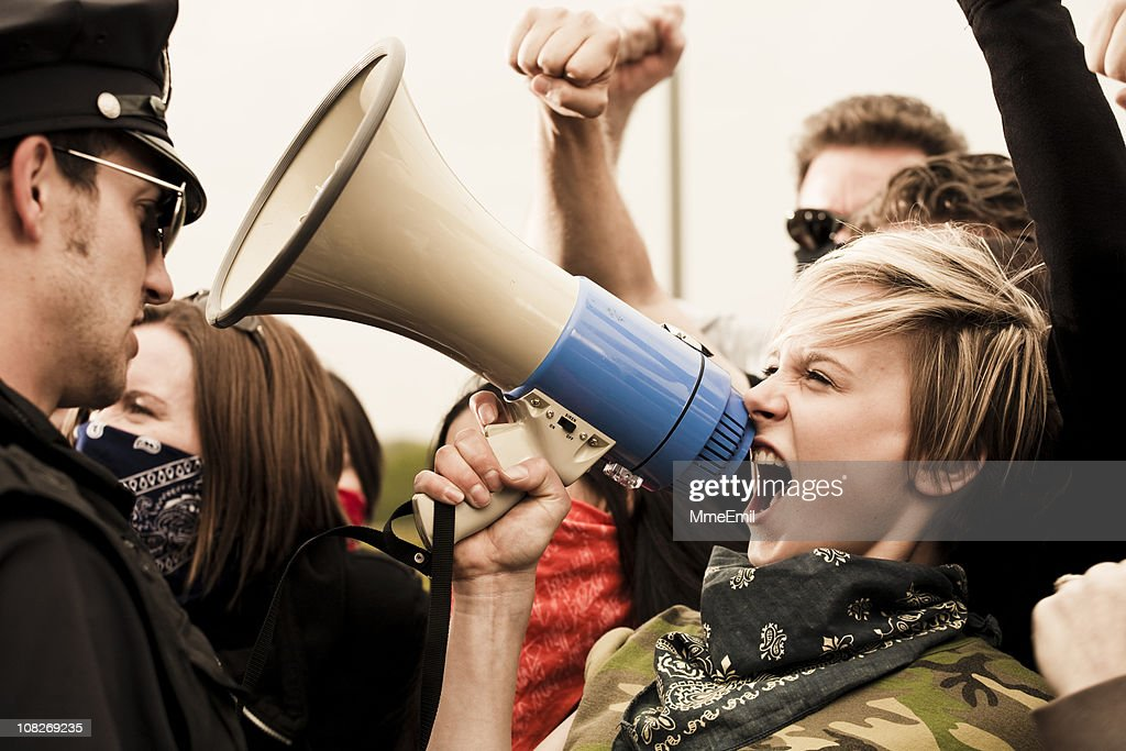 Stand up for your rights : Stock Photo
