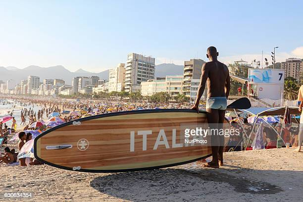 Stand Up Paddle board was donated by the Government of Italy after the end of the Rio Olympics The board was used in Casa Itália which operated...