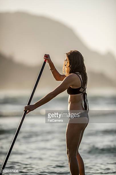 Stand Up Paddle Boarding in the Evening Light