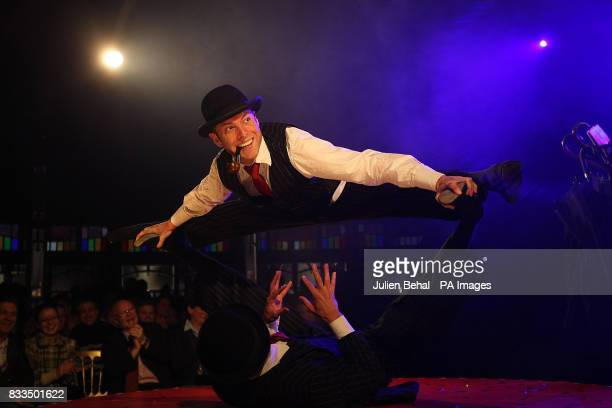 Standalone photo An acrobat during a performance of La Clique the world famous variety show with cabaret burlesque and acrobatics at Dublin's...