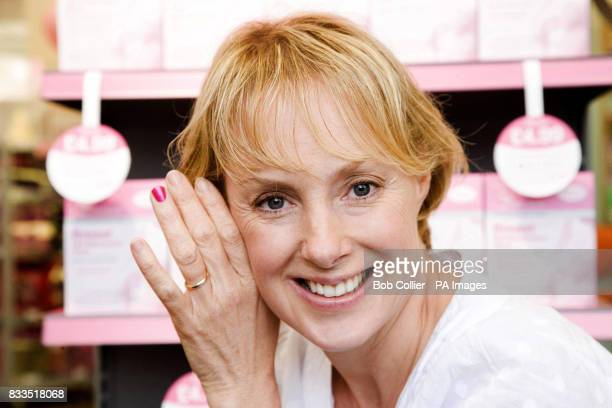 Standalone Photo Coronation Street actress Sally Whittaker wears pink nail polish on one fingernail to show her support for the...
