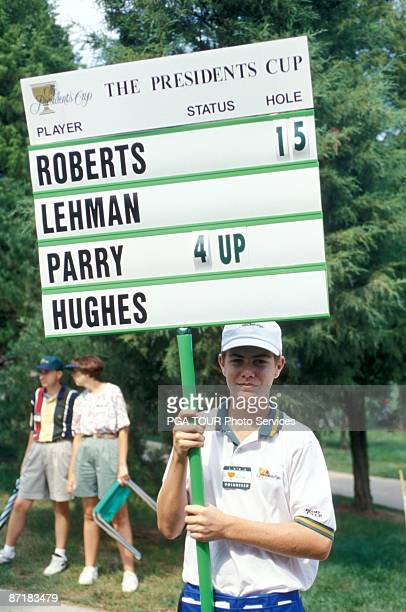 Standard Bearer during the 1994 Presidents Cup on September 1618 1994 at Robert Trent Jones GC in Prince William County Virginia