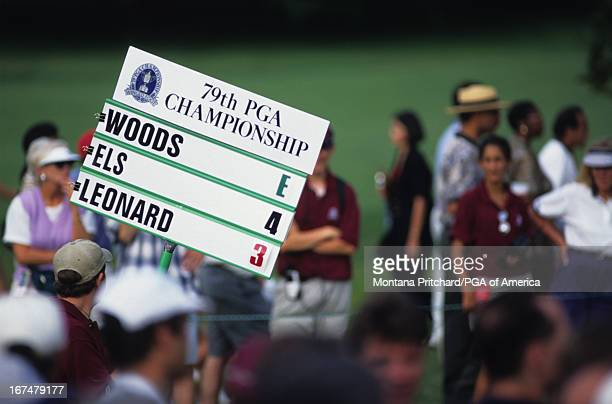 A standard bearer the 80th PGA Championship held at the Sahalee Country Club in Redmond Virginia August 1316 1998