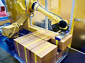 Standard multipurpose robot and cardboard boxes