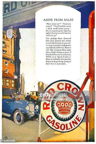 Standard Oil of California advertises their Red Crown Gasoline product in this layout printed in San Francisco California in 1922