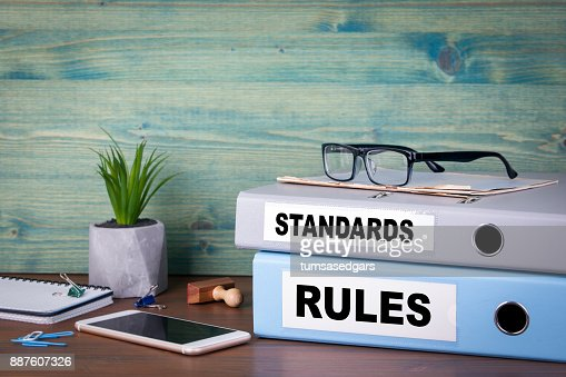standards and rules concept. Successful business, law and profit background : Stock Photo