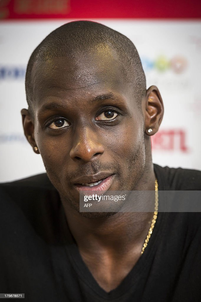 Standard's new player French Yohann Thuram speaks during a press conference of the Belgian first division football team Standard de Liege to present a new player,on August 6, 2013 in Liege.