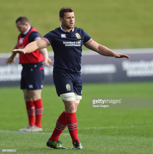 Stander looks on during the British Irish Lions training session held at the QBE Stadium on June 5 2017 in Auckland New Zealand